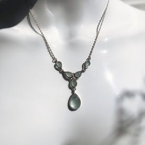 Jewelry - Art Nouveau Silver and Moonstone Necklace